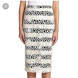 A.L.C. Della Lace Overlay Pencil Skirt Size 4